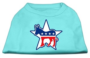 Democrat Screen Print Shirts Aqua XXXL(20)